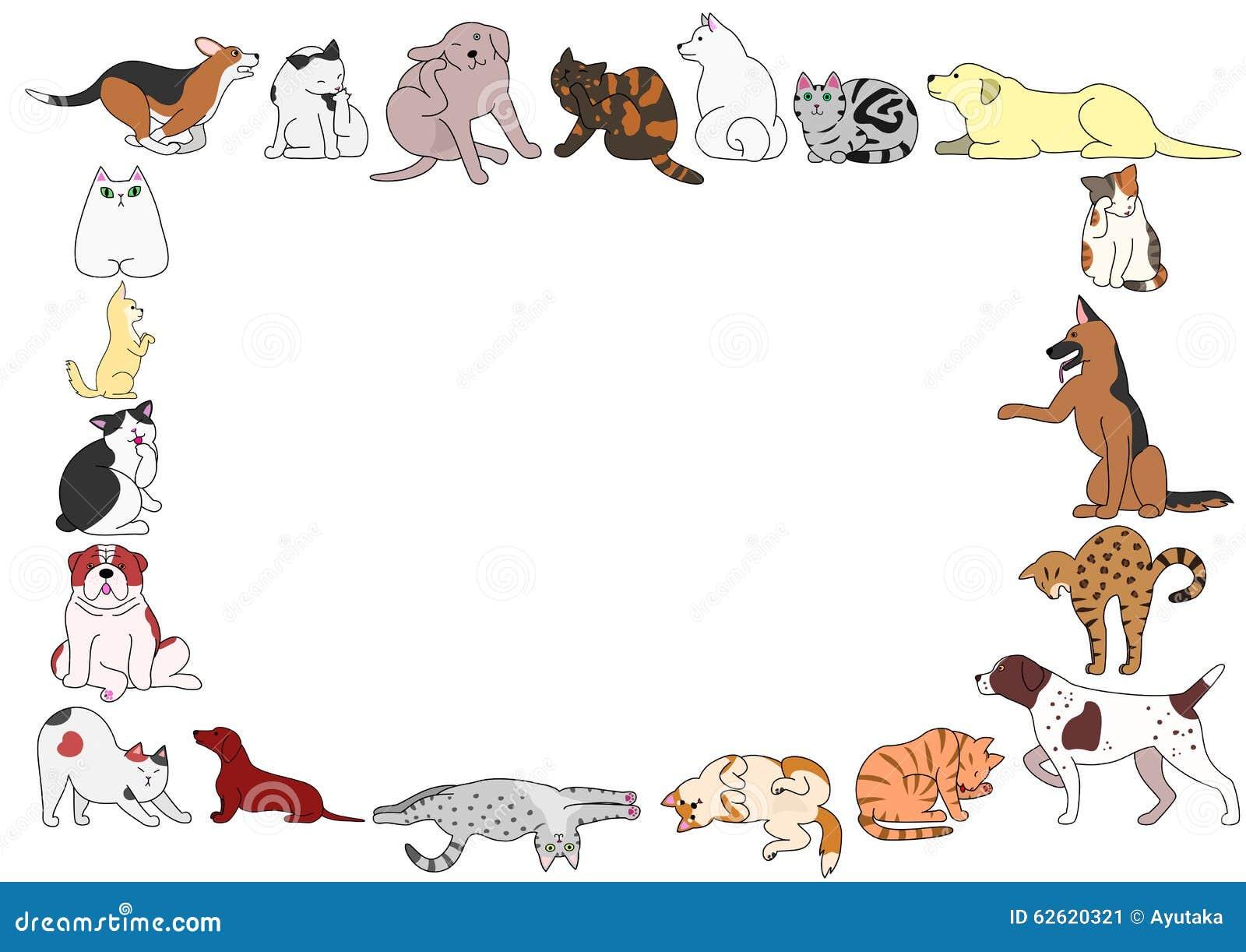 Capítulo de las diversas posturas de los perros y de los gatos