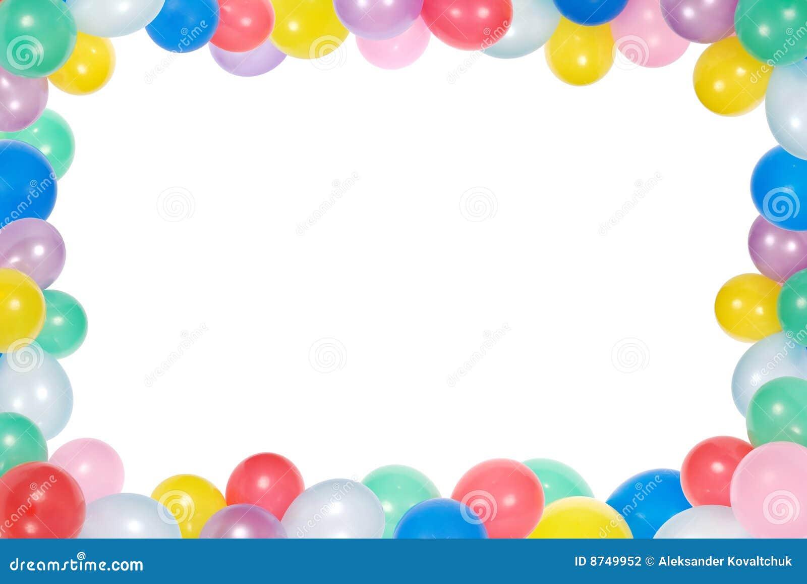 Capítulo de los globos aislados en el fondo blanco