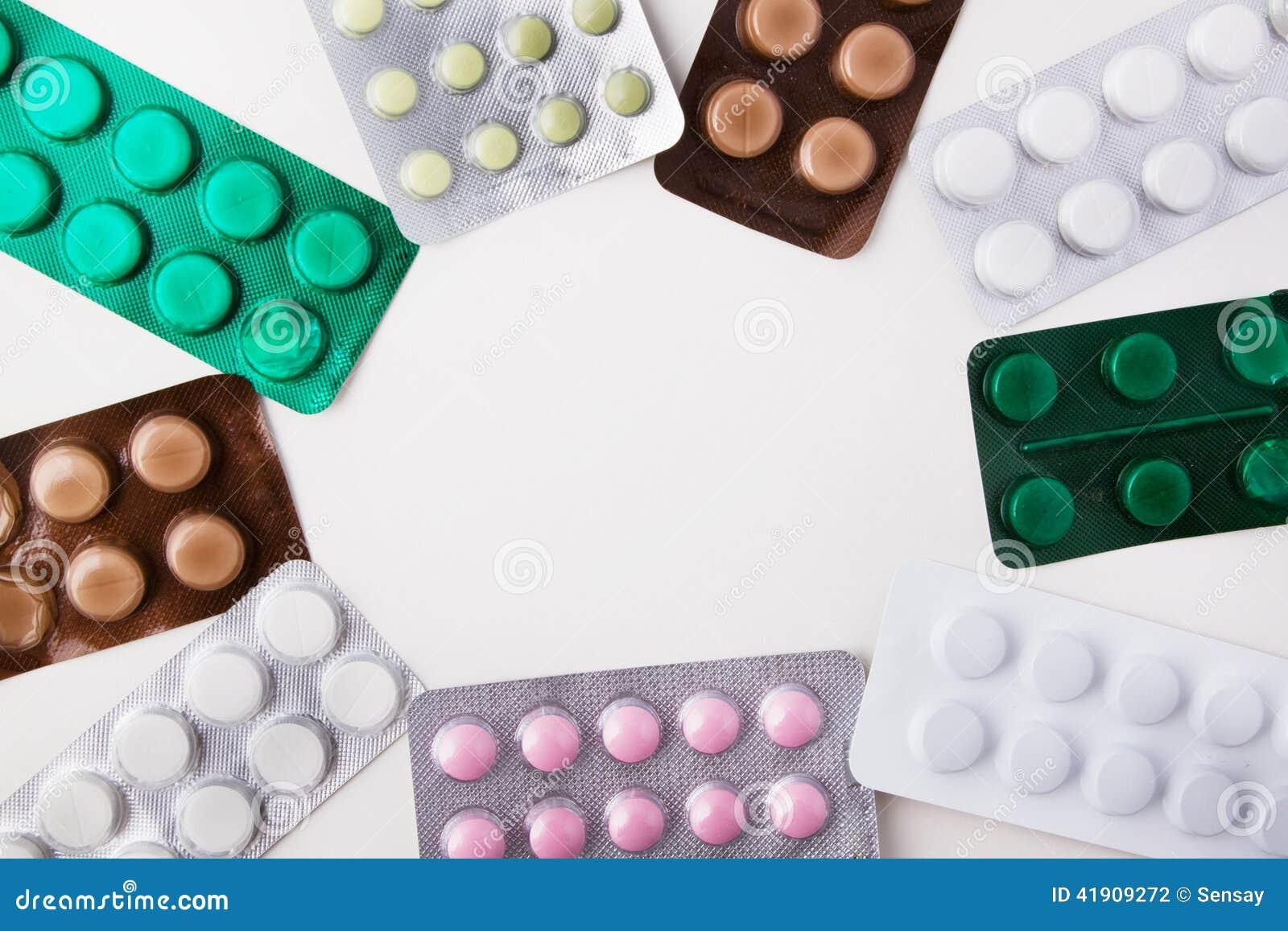 Capítulo de píldoras en paquete de ampolla