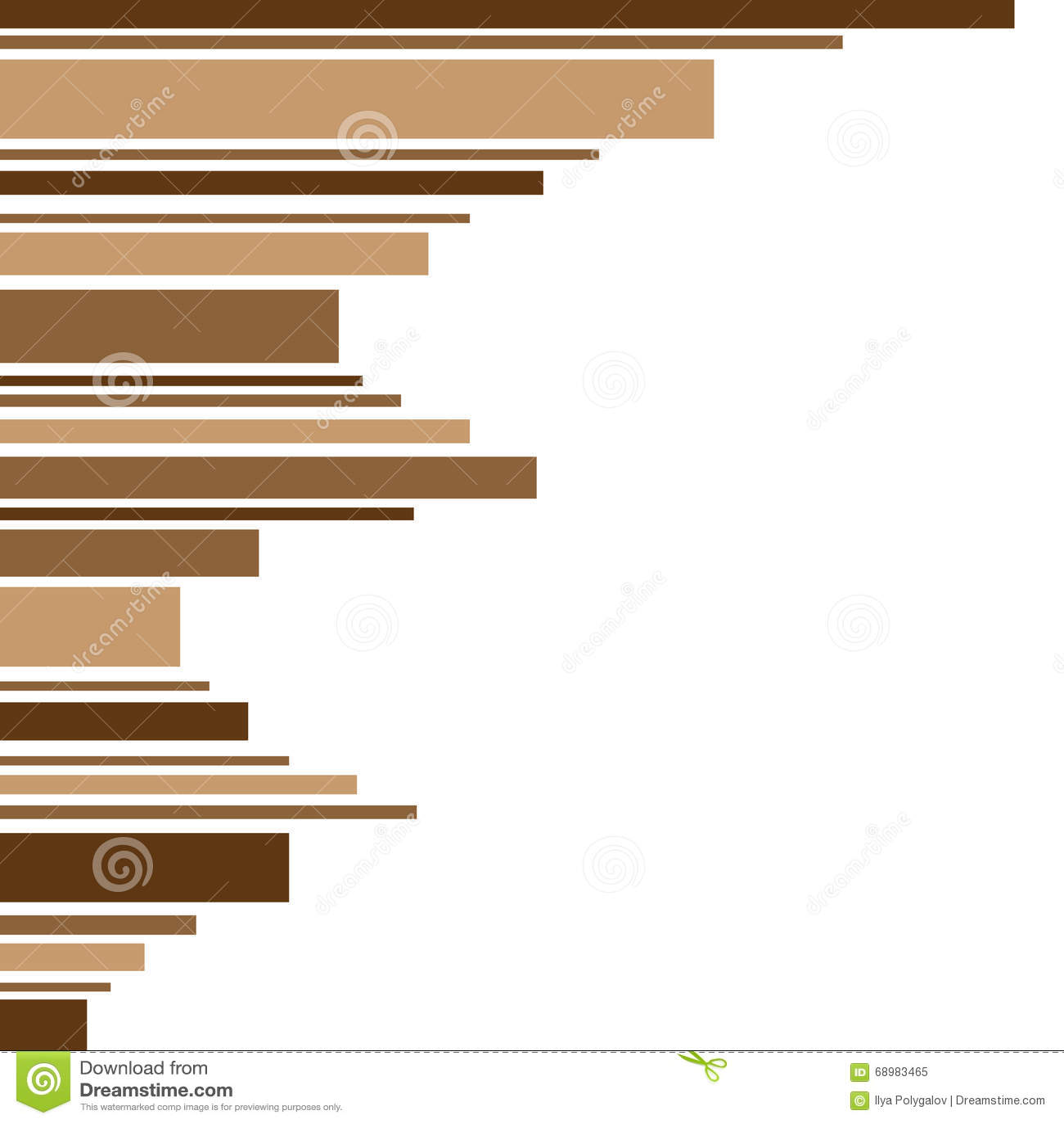 Capítulo hecho de tiras de sombra marrón