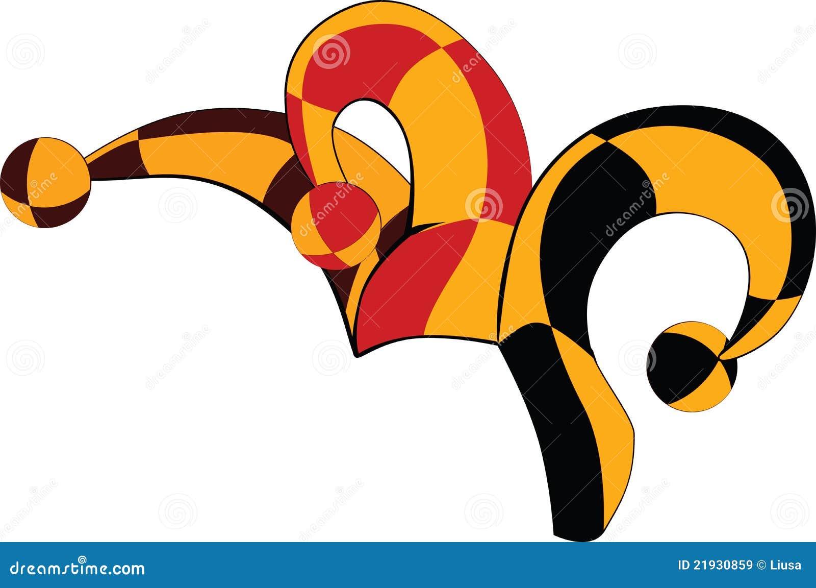 Cap Of A Joker Cartoon Stock Vector Illustration Of Poker 21930859