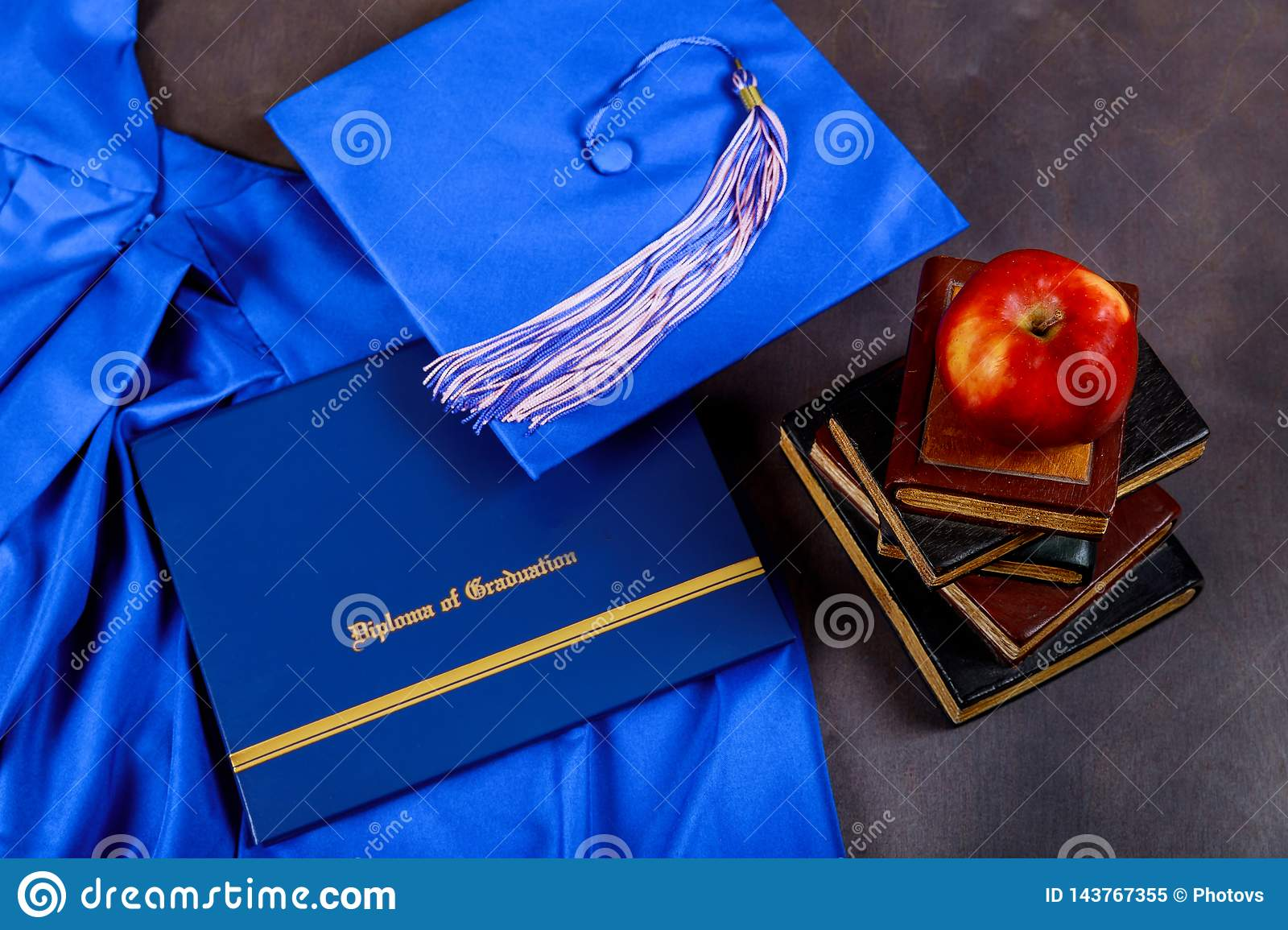 Cap put on the book and certificated in graduate education concept