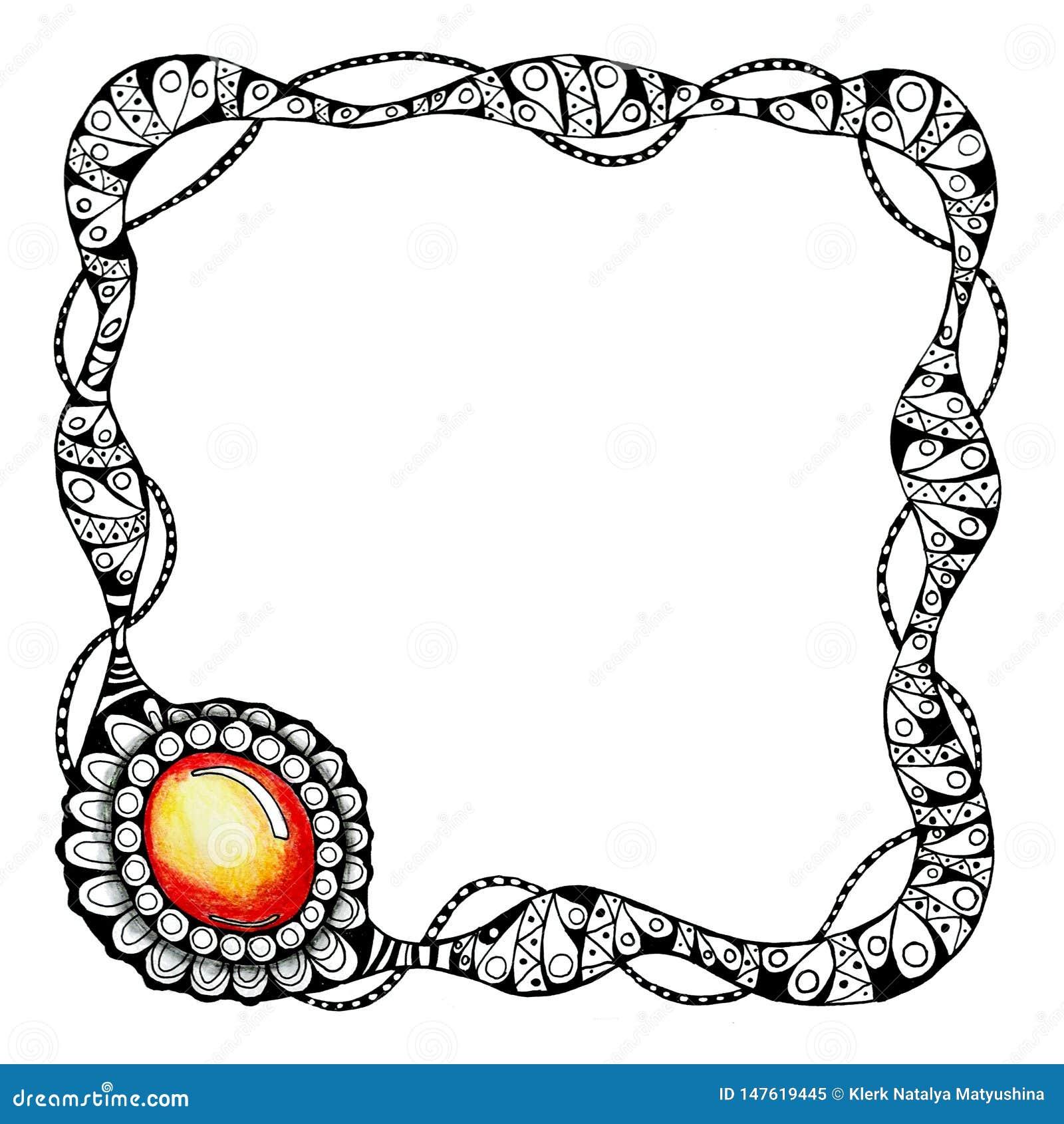 Cap?tulo en t?cnica gr?fica con la imagen de una pulsera y de una piedra preciosa Para el dise?o del fondo, plantillas