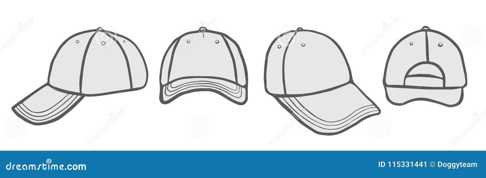 fe759a43cf9 Cap Vector Template stock vector. Illustration of casual - 115331441