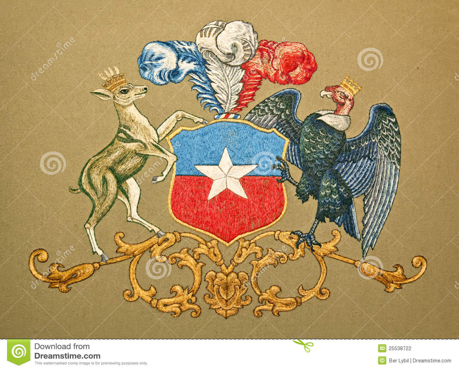 Capa de brazos de Chile