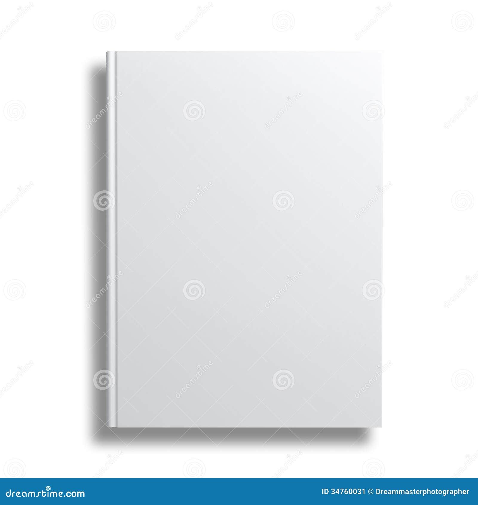 Book Cover Background Zero : Capa do livro vazia sobre o fundo branco ilustração stock