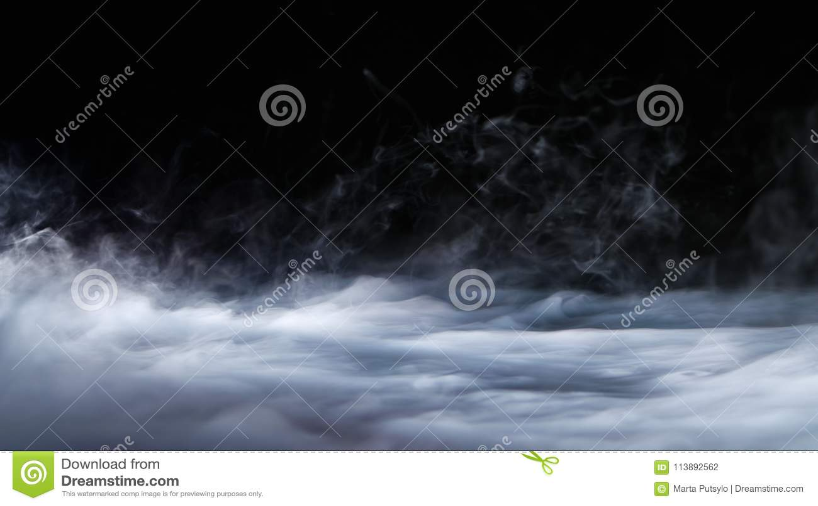 Capa realista de la niebla de las nubes de humo del hielo seco