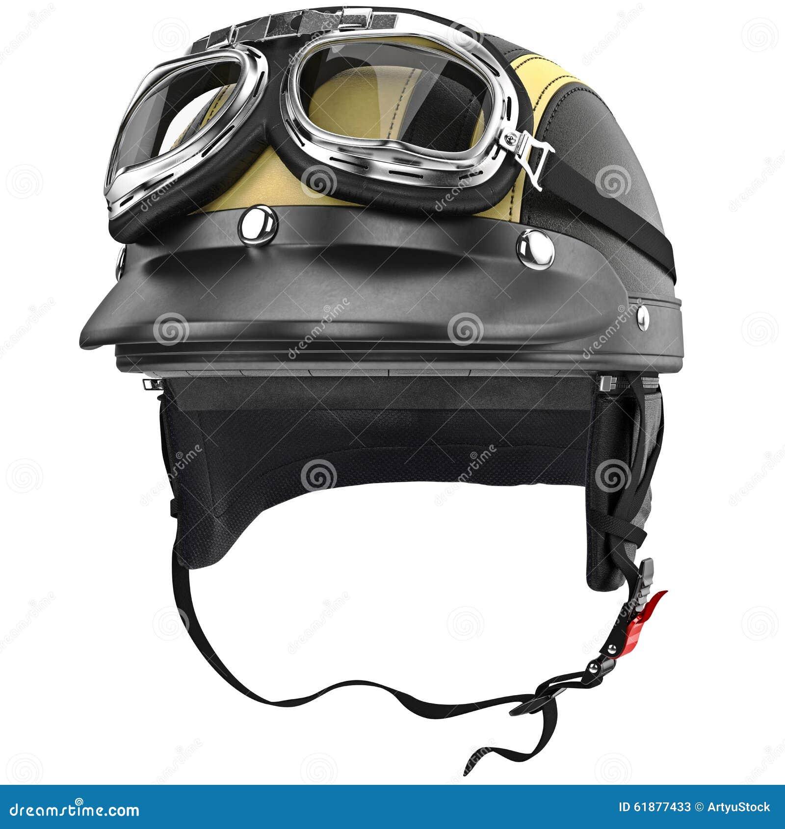c81bf2adbd3b3 Capacete da motocicleta do motociclista com estilo retro dos óculos de  proteção