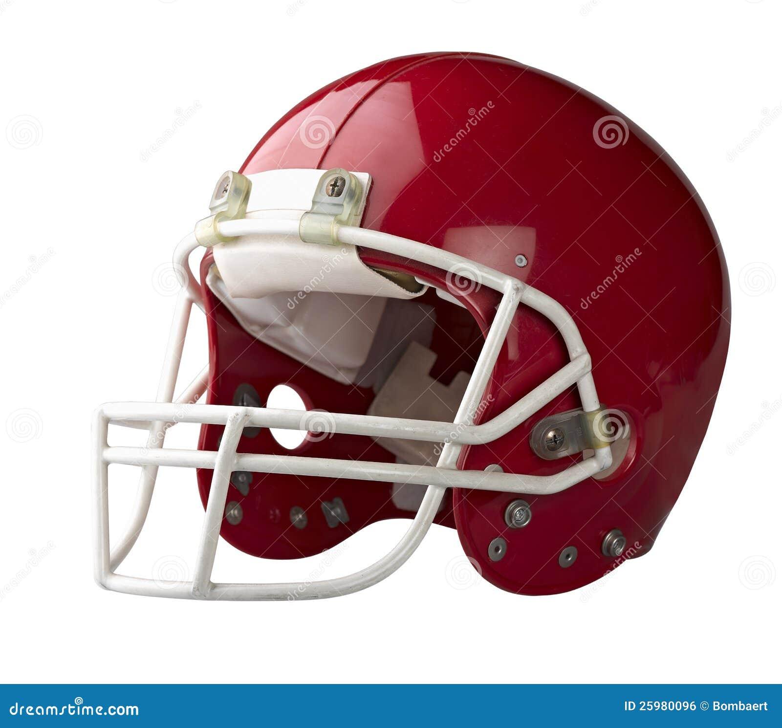 Capacete de futebol americano vermelho