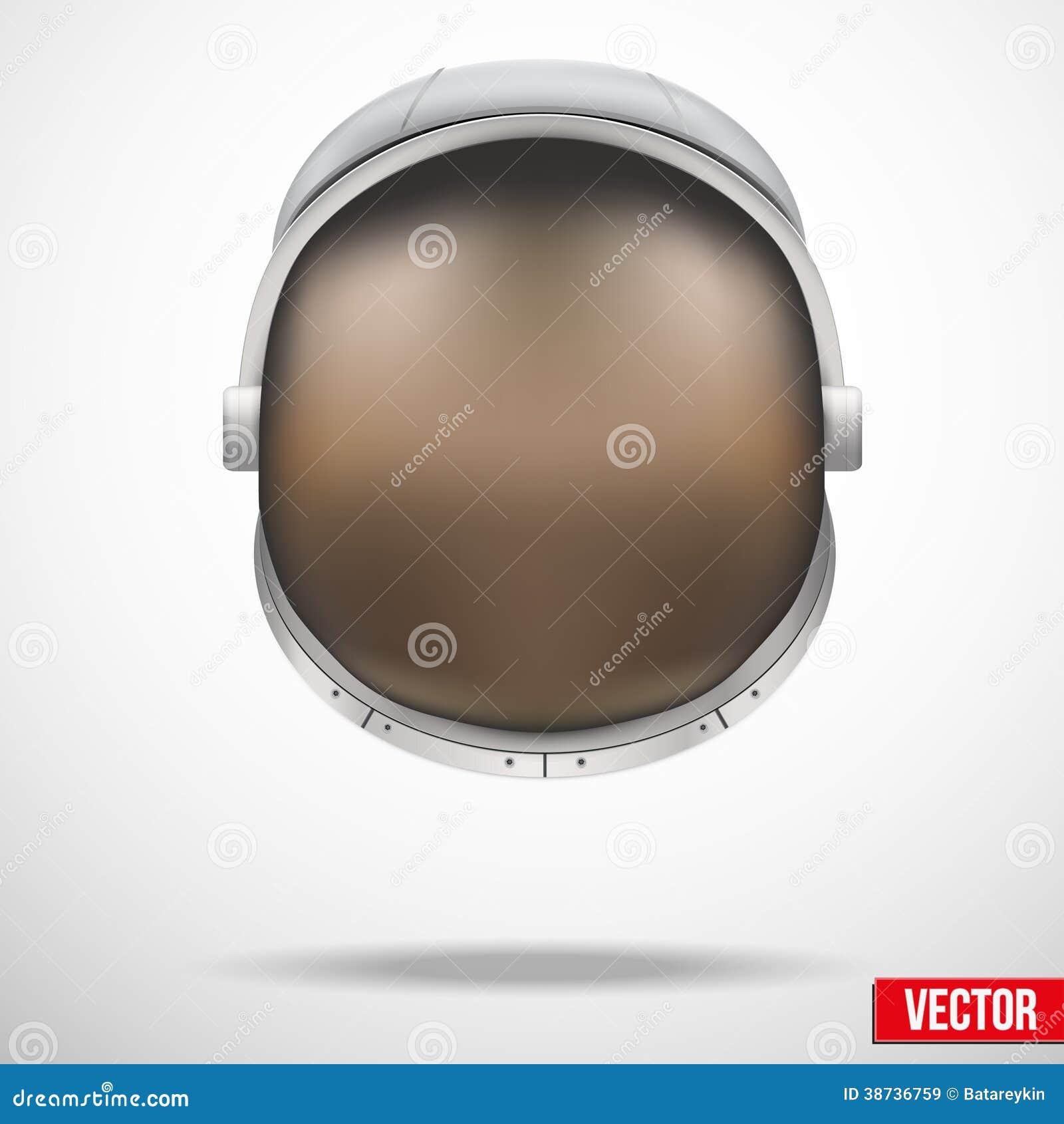 Capacete do astronauta com vetor do vidro da reflexão.