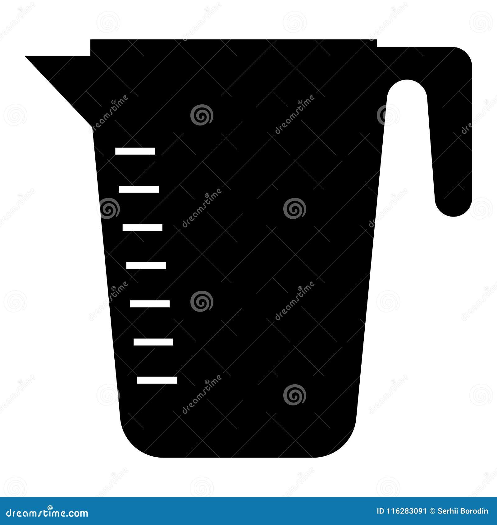 A capacidade de medição coloca do estilo liso preto da ilustração de cor do ícone a imagem simples