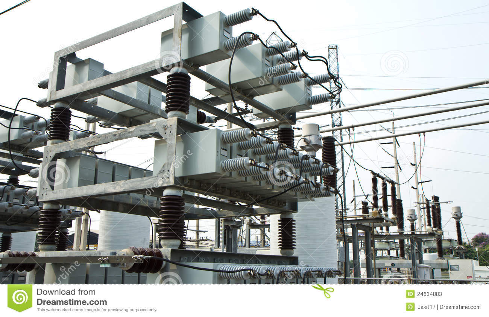 capacitor bank stock photos