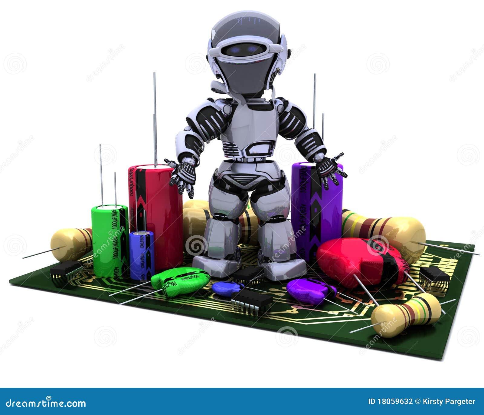 Capacitors oporników robot