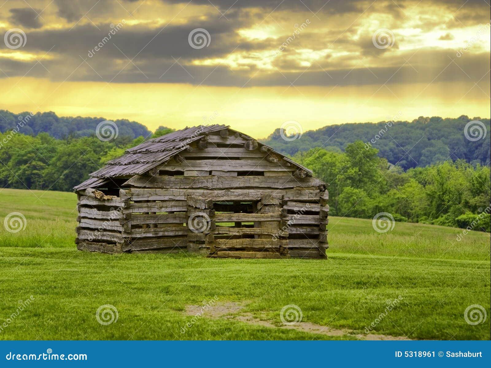 Download Capanna immagine stock. Immagine di parco, verde, legno - 5318961