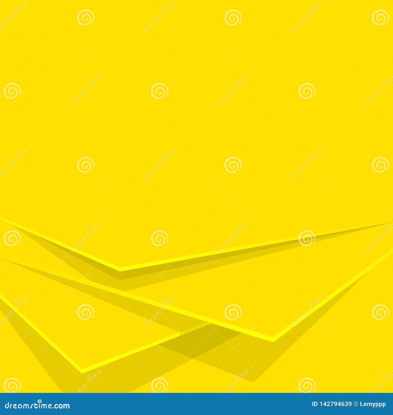 Capas amarillas del fondo del extracto Contexto editable del vector