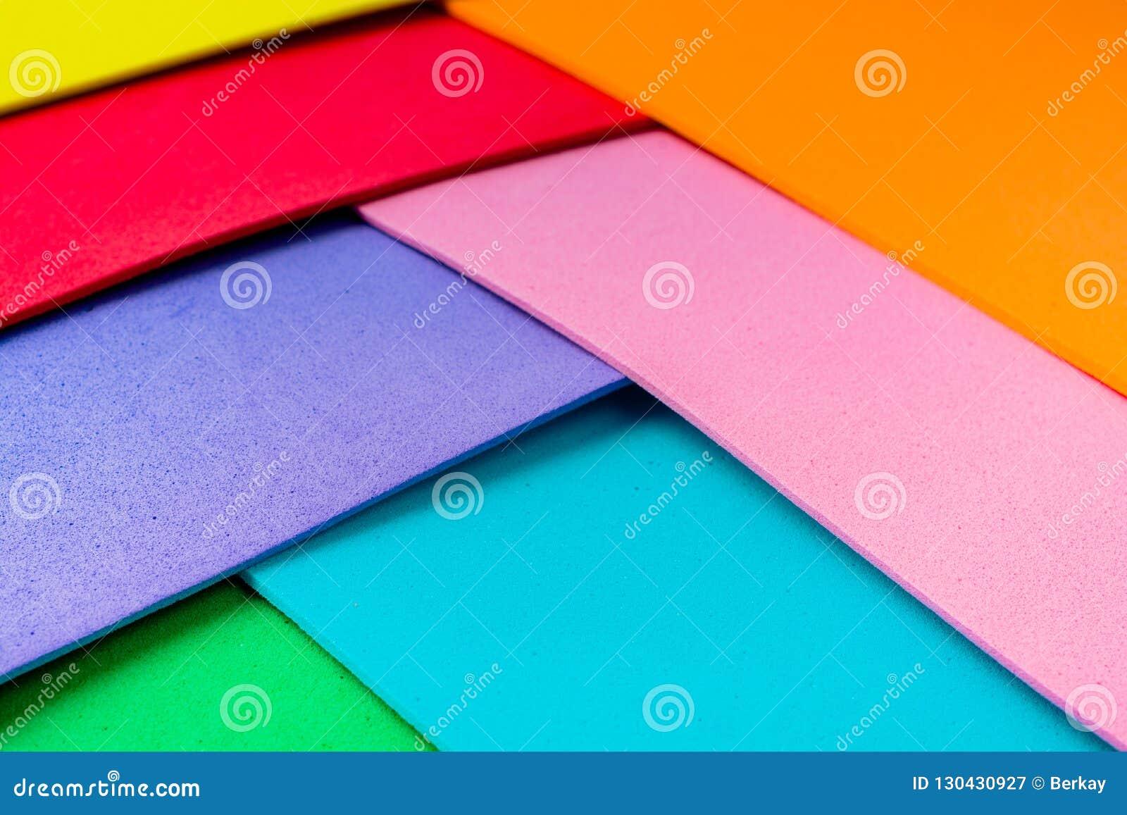 Capas coloridas del diseño material