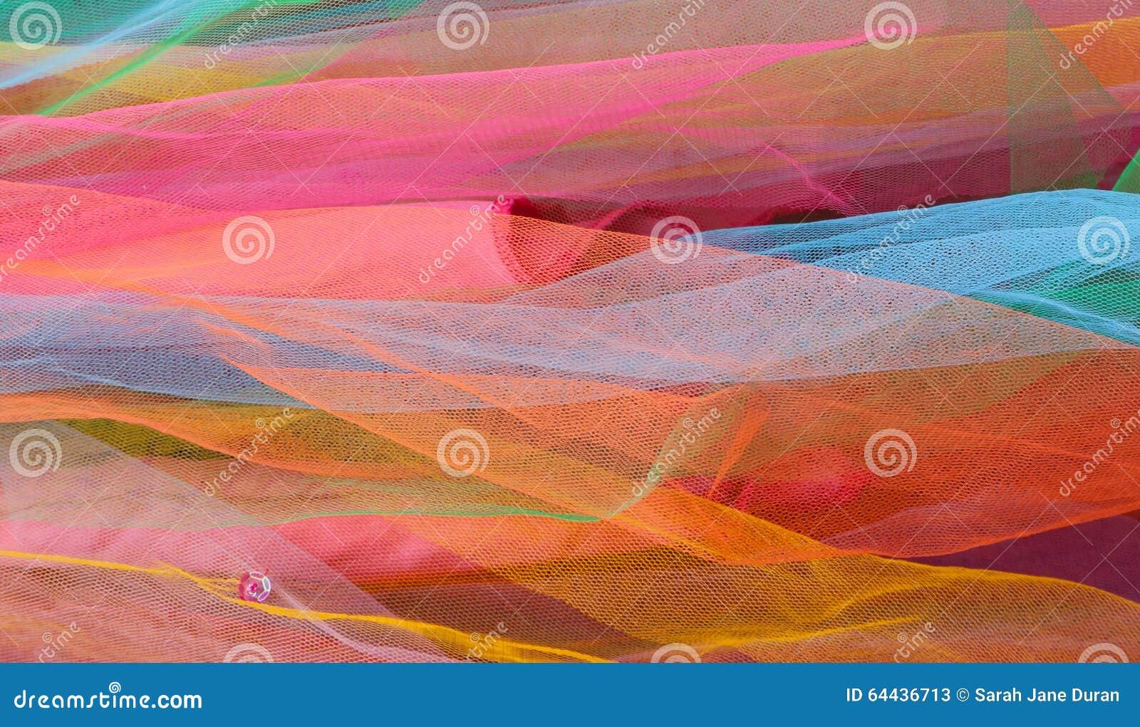 Capas de red colorida brillante de Tulle con la lentejuela rosada