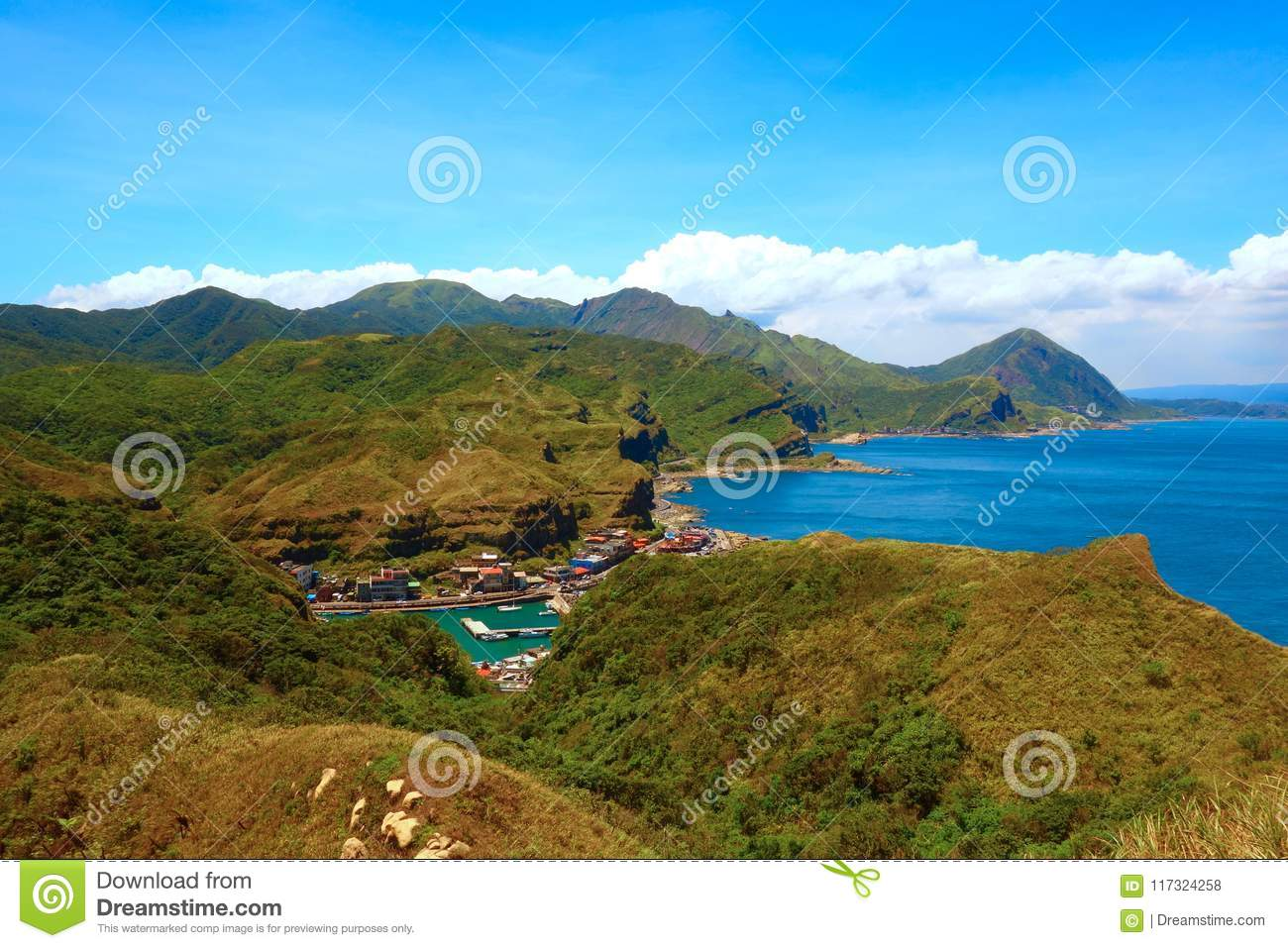 Cape Bitoujiao   View Of Mountains And Nature On The East Coast Of Taiwan,  Taipei