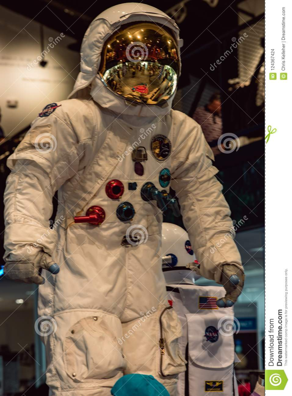 Cape Canaveral, Florida - 13. August 2018: Astronaut Suit an der NASA Kennedy Space Center