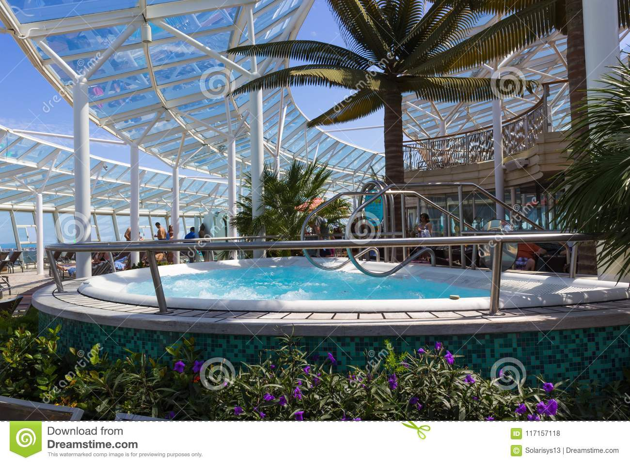 Cape Canaveral, USA - April 29, 2018: The People Rest Near The ...