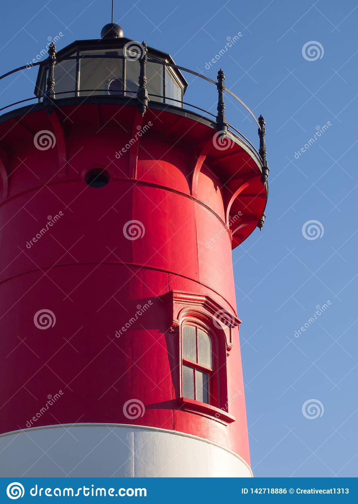 Cape Cod röd och vit Falmouth fyr