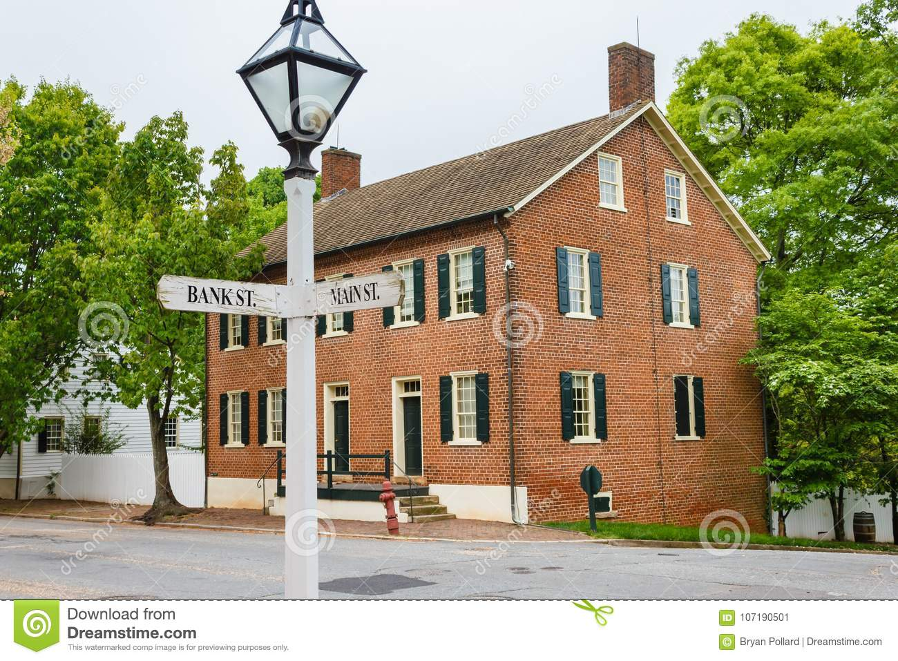 Cape Fear Bank House At Old Salem Editorial Photo - Image of gardens ...