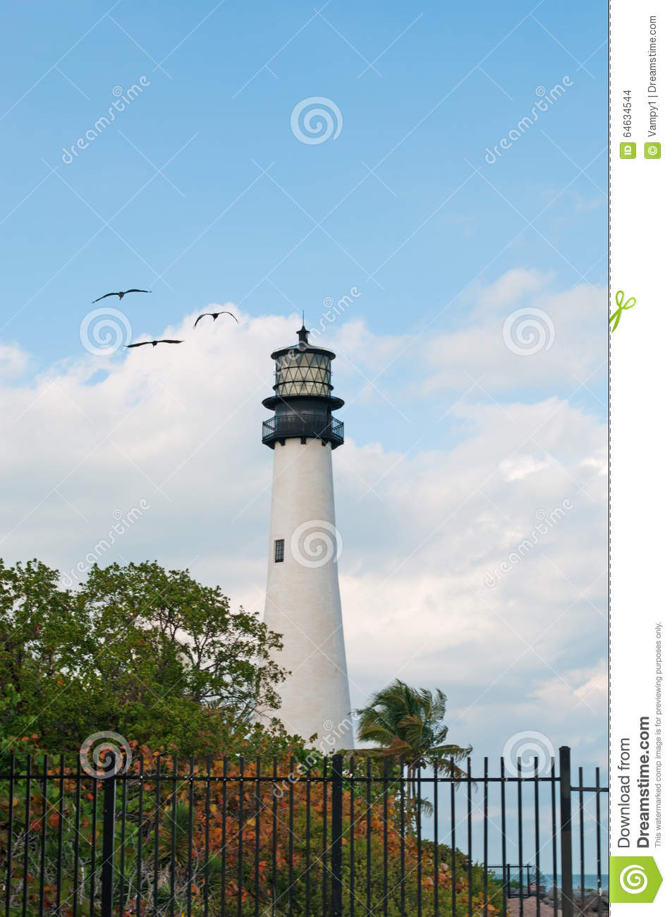 Cape Florida Lighthouse, Beach, Vegetation, Bill Baggs Cape