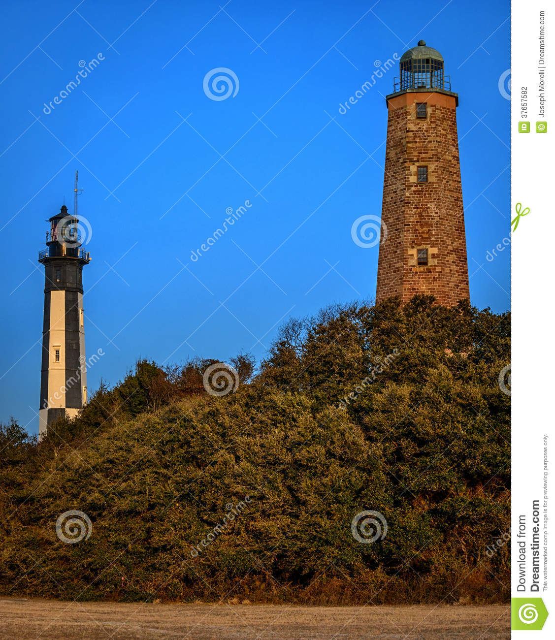 Cape Henry Lighthouses Stock Photography - Image: 37657582