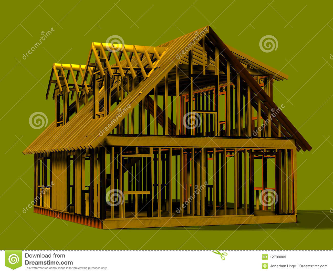 Cape Style House Frame Stock Photos Image 12700803