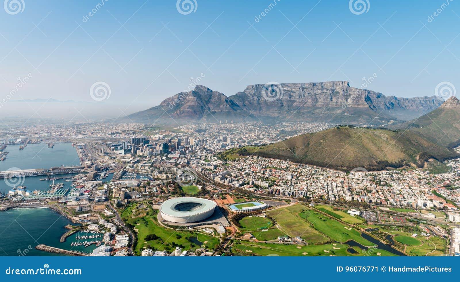 Cape Town et x28 ; vue aérienne d un helicopter& x29 ;