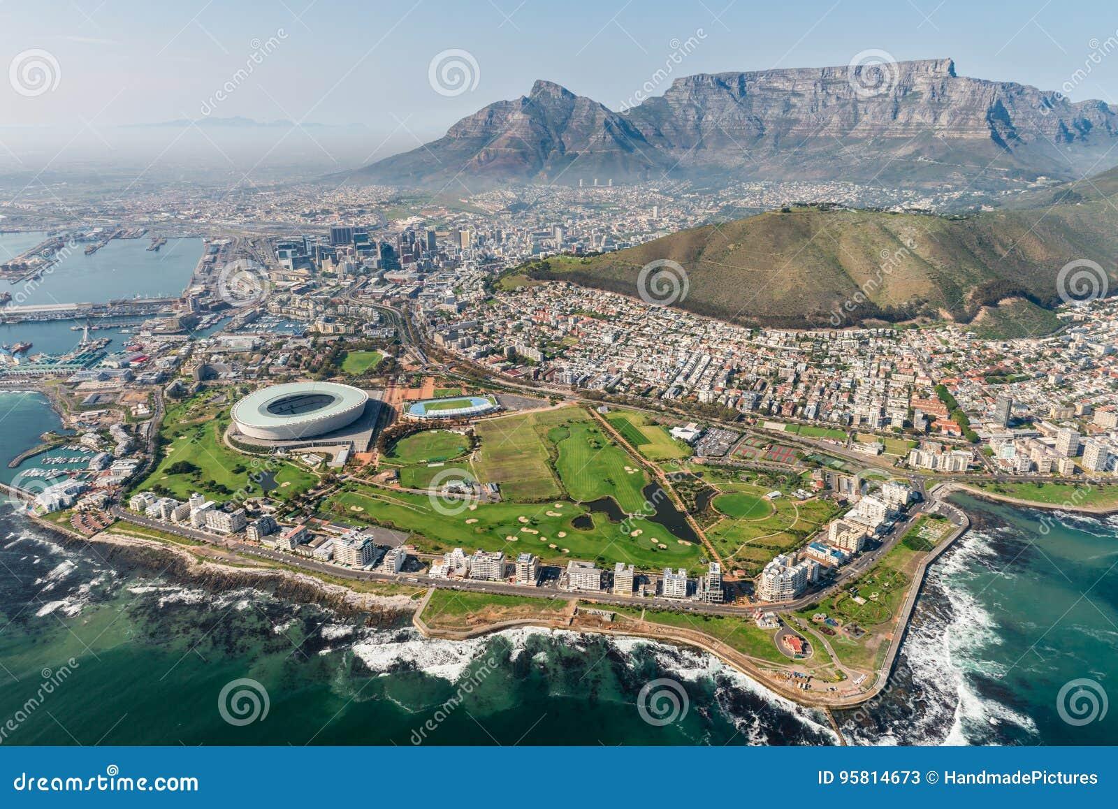 Cape Town, il Sudafrica & x28; view& aereo x29;