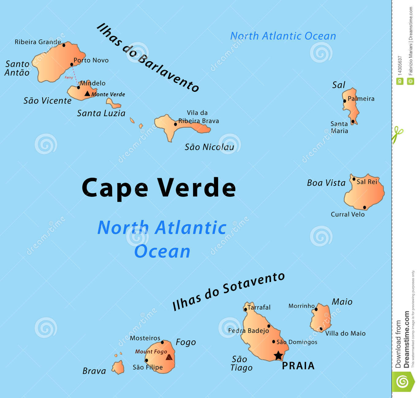 Cape Verde Map Royalty Free Stock Photography Image - Cape verde map