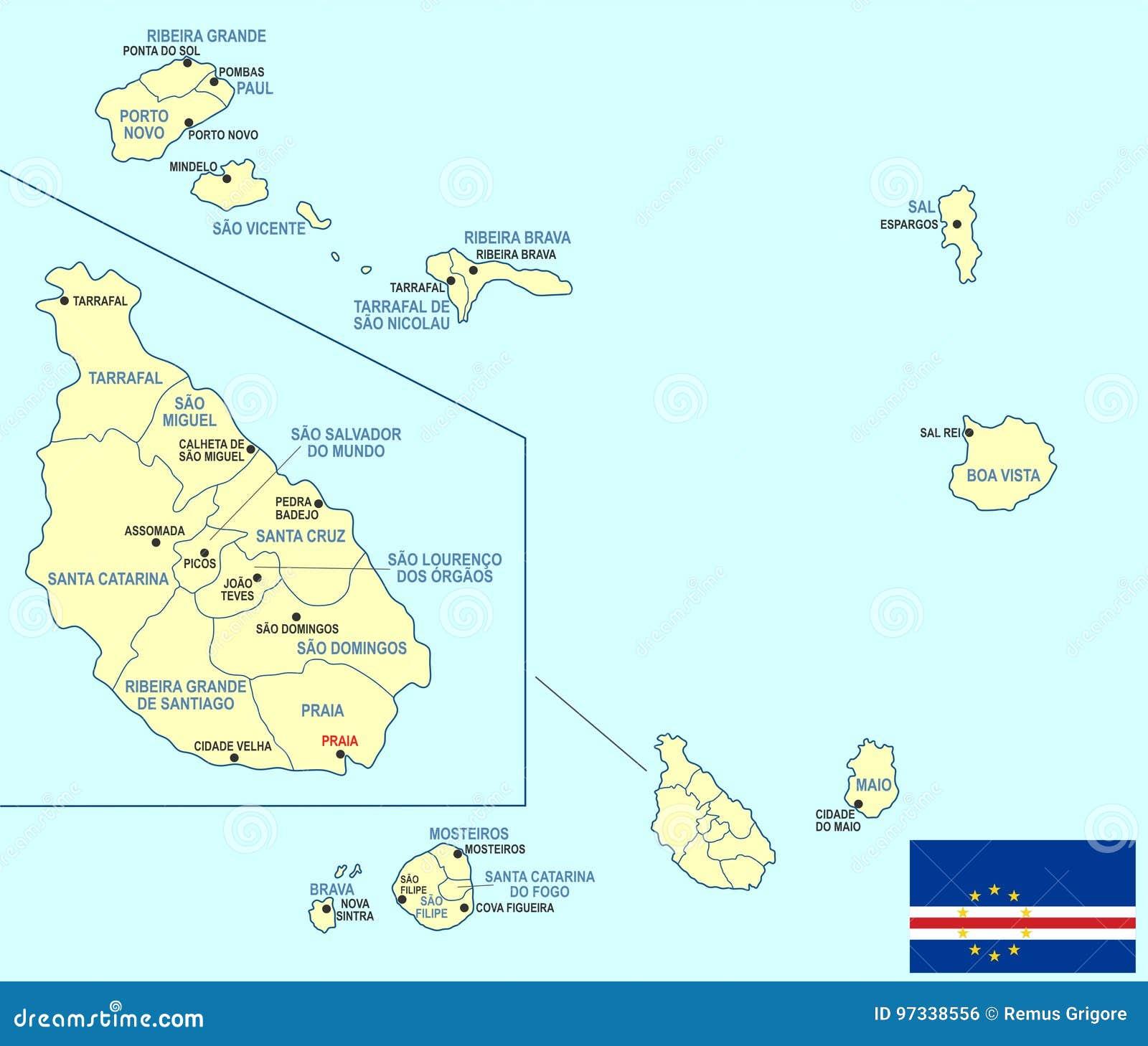 Cape Verde Map - Cdr Format Stock Illustration - Illustration of ...