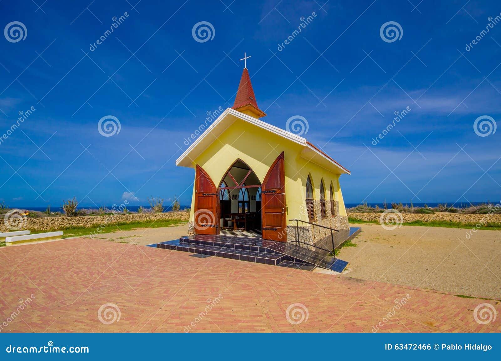 Capela Alto Vista, Atração De Aruba, ABC Foto de Stock - Imagem de on