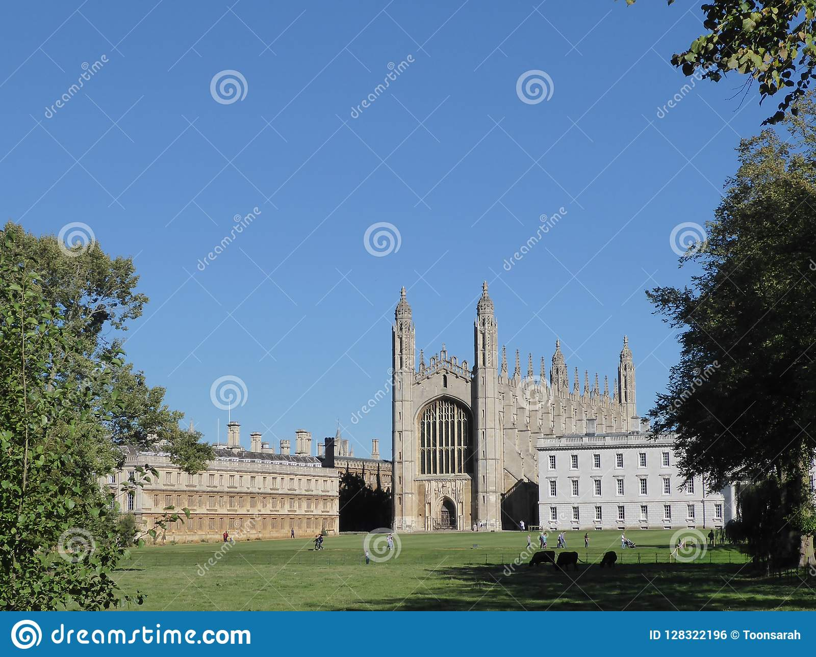 Capela da faculdade do ` s do rei, Cambridge, Reino Unido, visto das partes traseiras