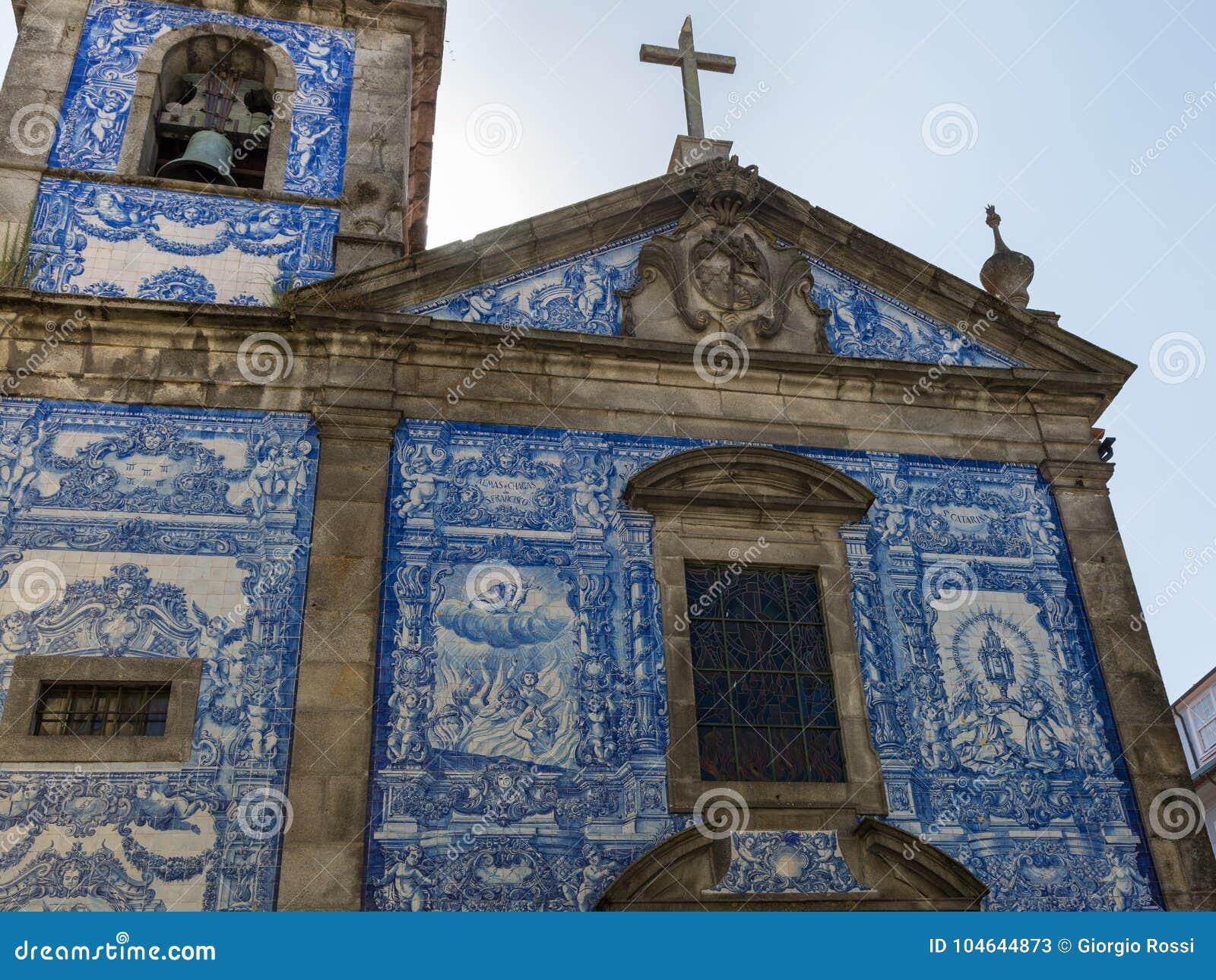 Capela das almas decorato con le mattonelle di azulejo capela de