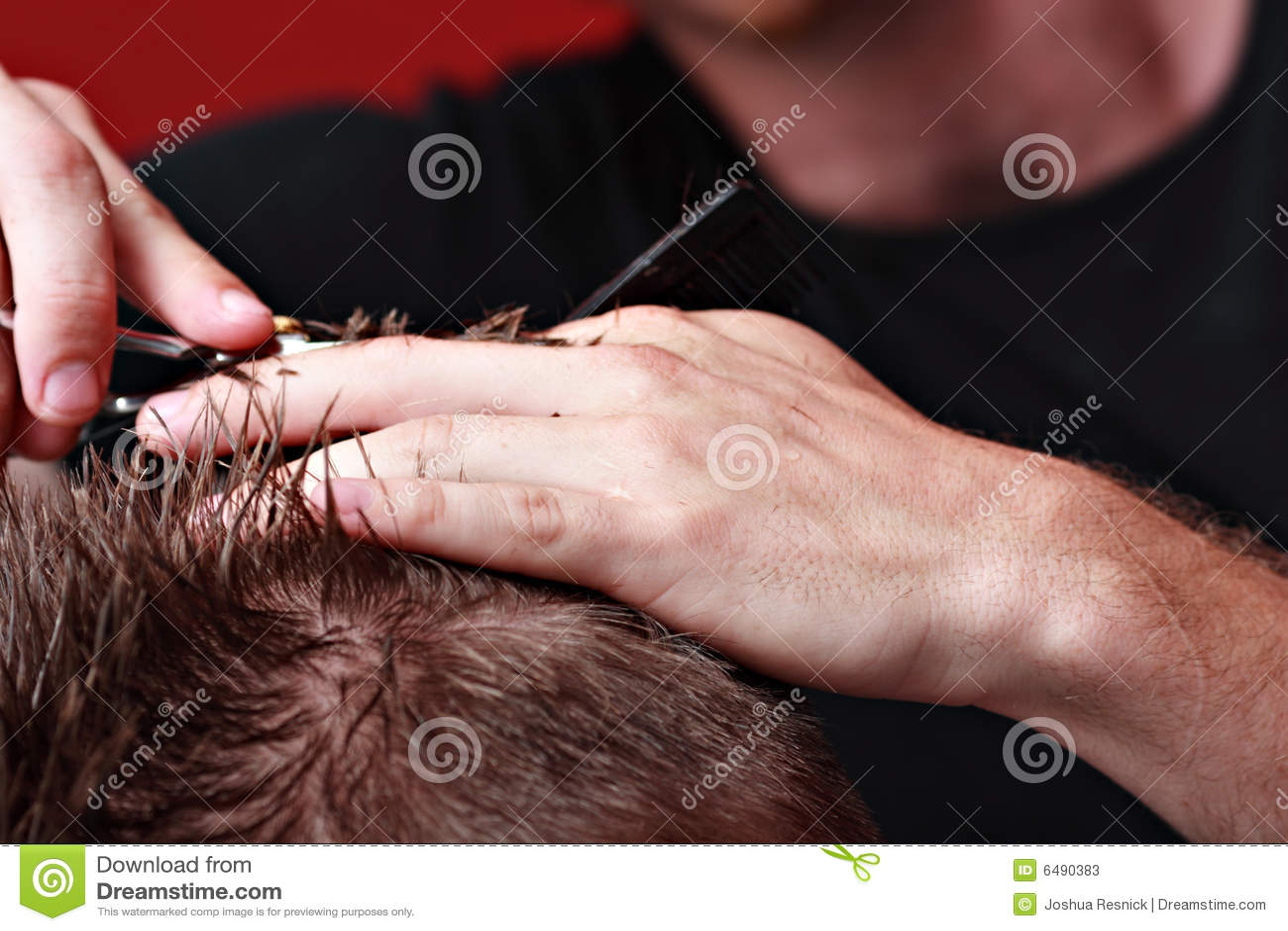 Capelli di taglio del barbiere