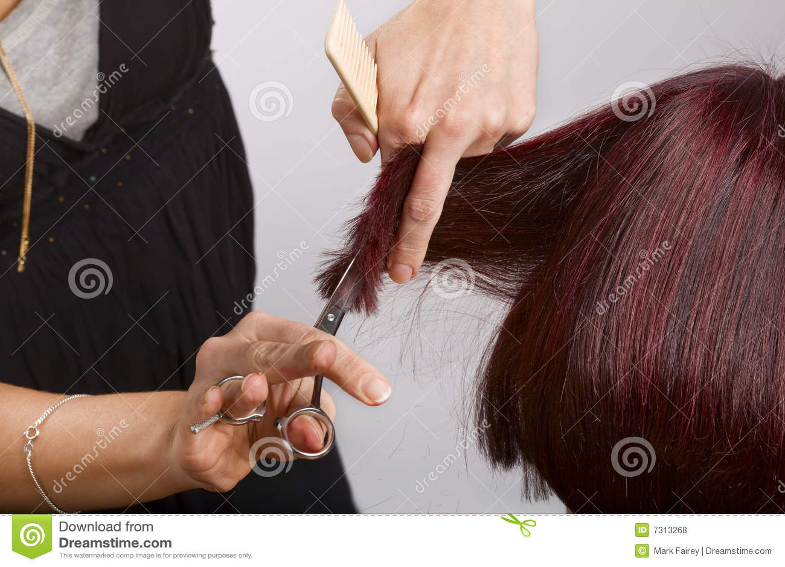 Capelli di taglio del parrucchiere