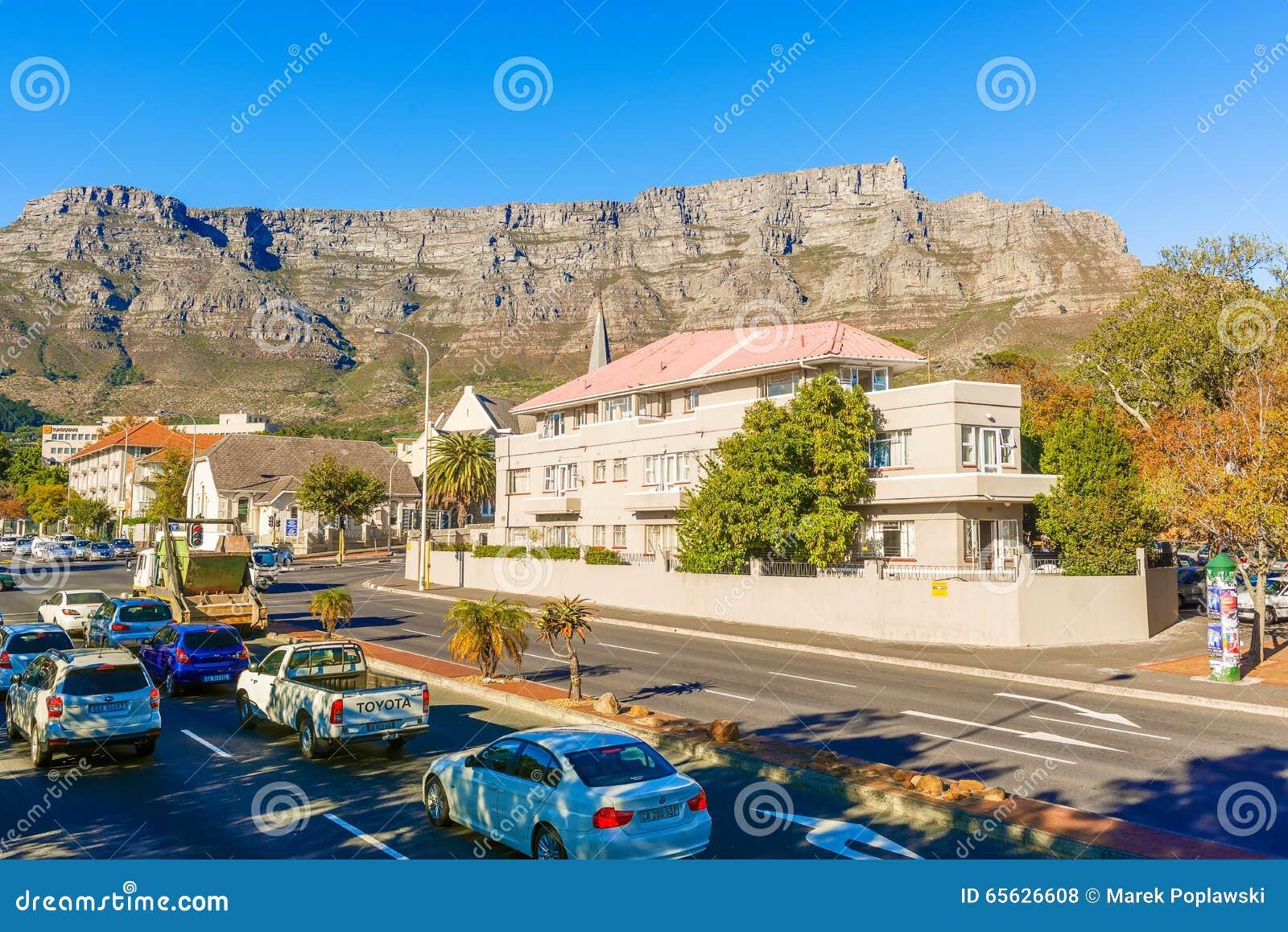 Capetown avec la montagne de table