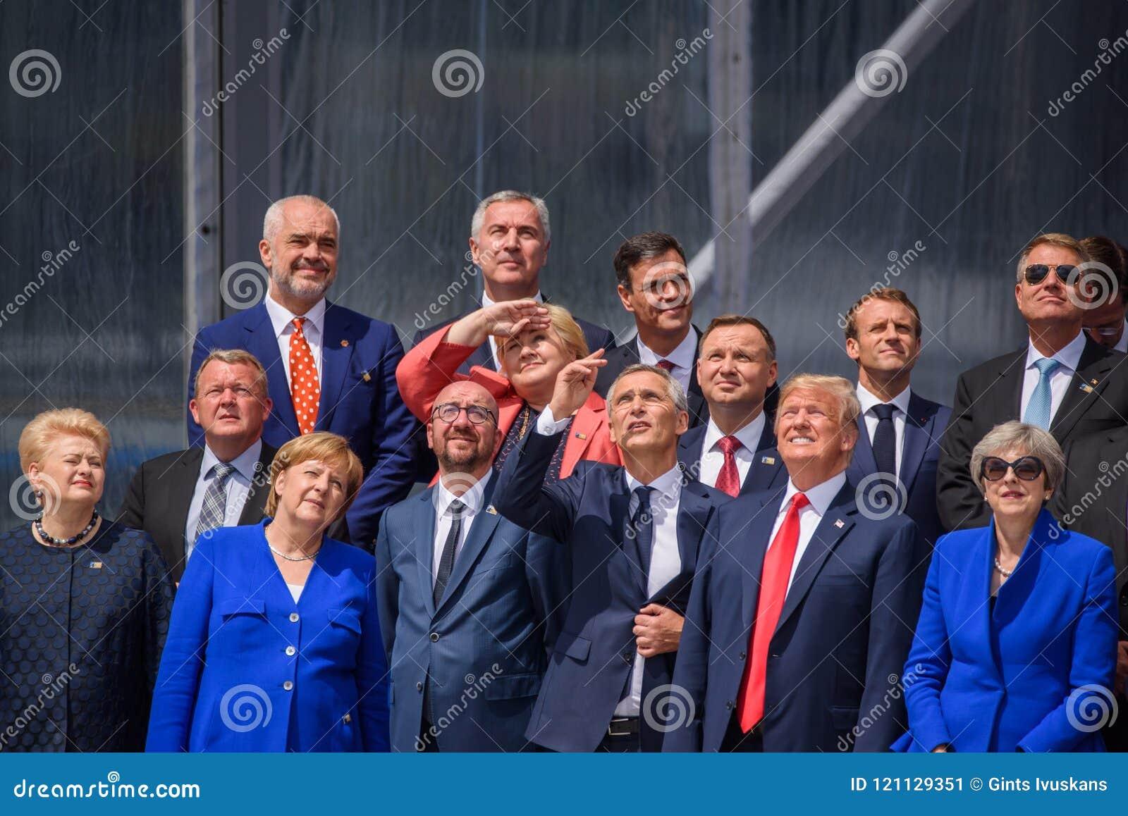 Capi di NATO, durante la cerimonia di apertura ufficiale della SOMMITÀ di NATO 2018