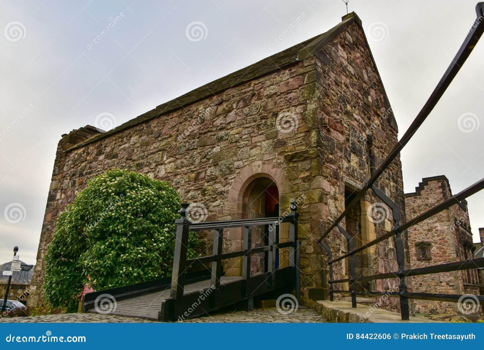 Capilla del ` s de St Margaret, el edificio más viejo castillo de Edimburgo, Edimburgo