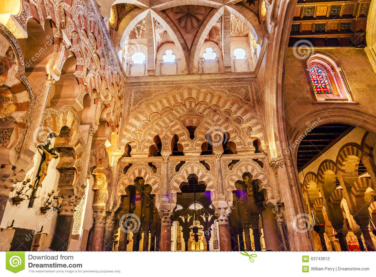 Download Capilla First Christian Chapel Arches Mezquita Cordoba Spain Stock Photo - Image of craftmenship, europe: 63743612
