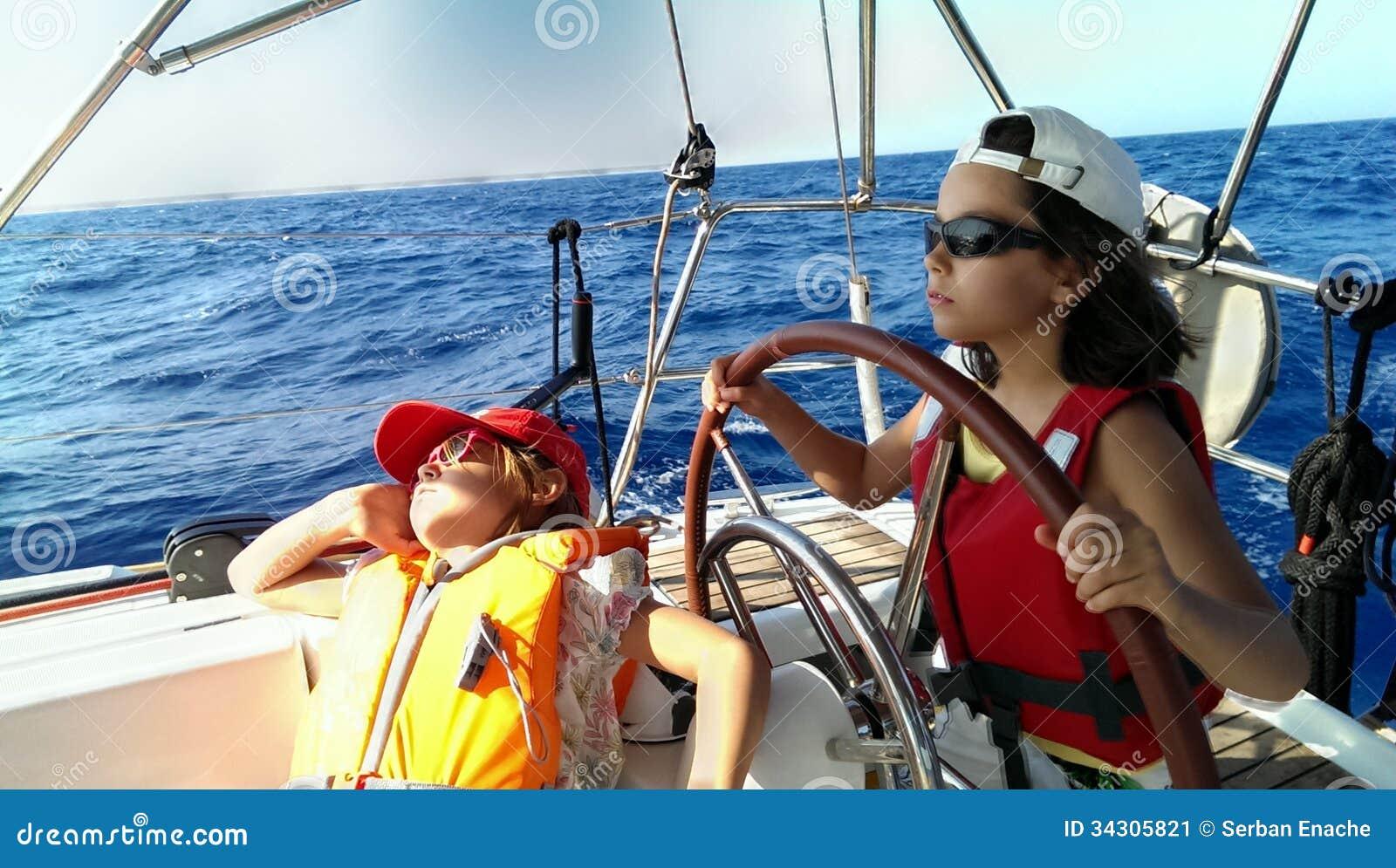 Capitán joven del velero