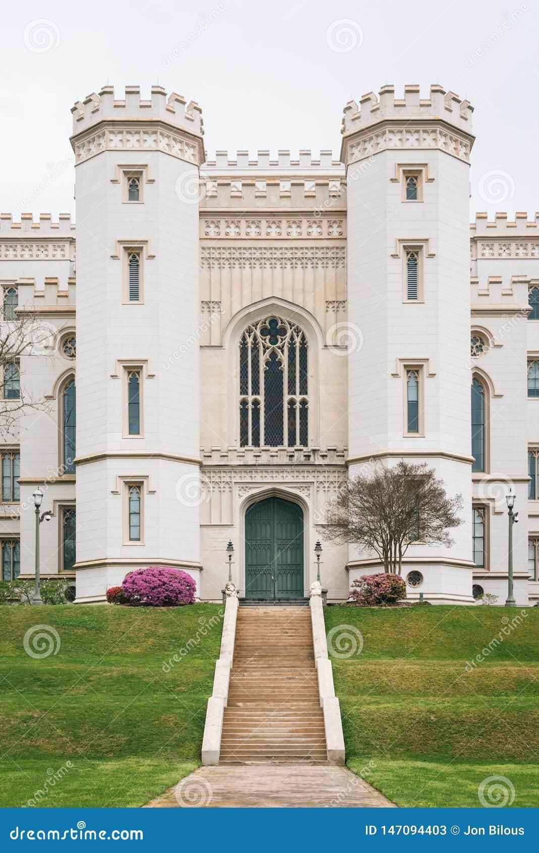 Capitólio velho do estado de Louisiana, em Baton Rouge, Louisiana