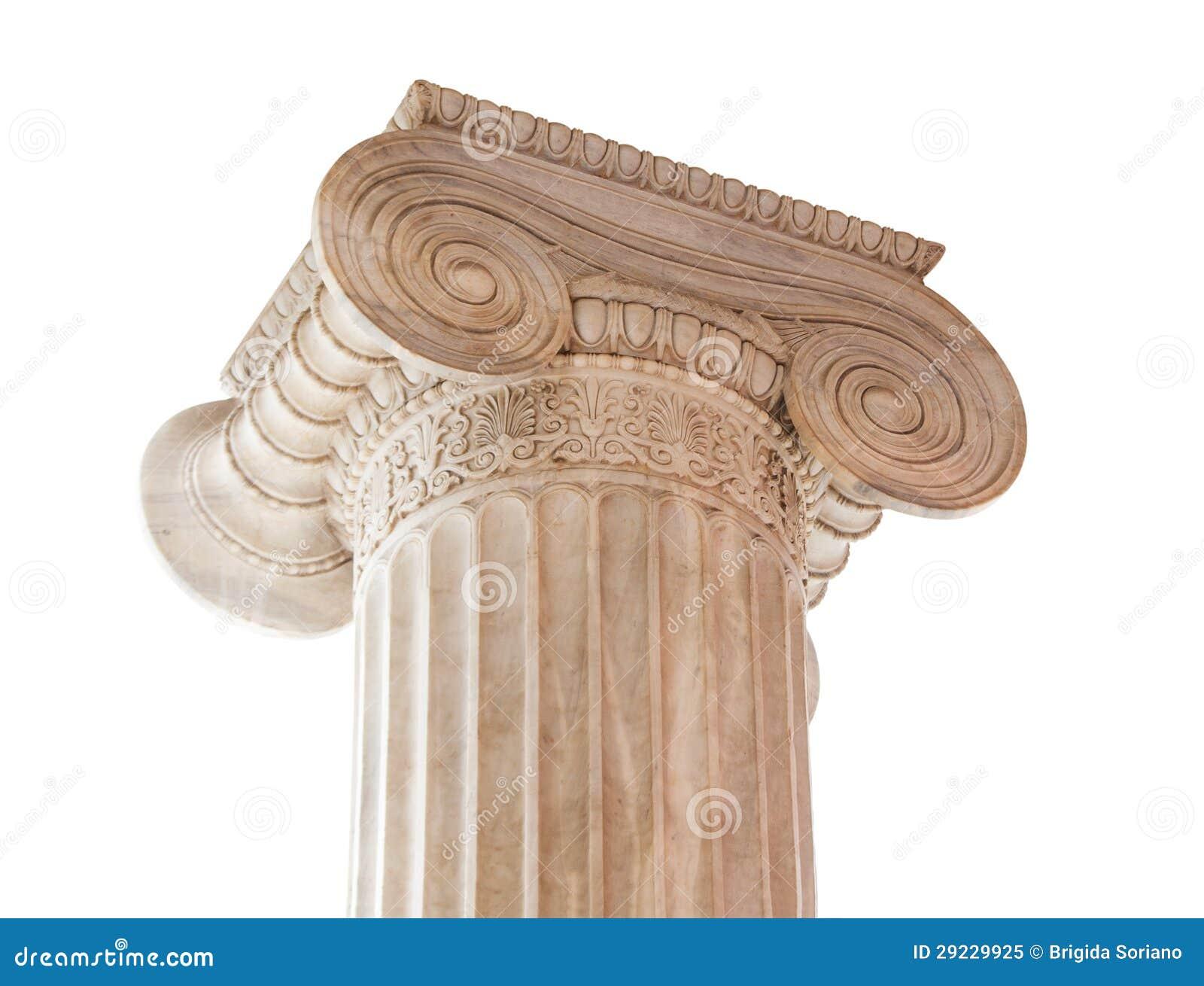 Download Capital de coluna iónico imagem de stock. Imagem de arquitetura - 29229925