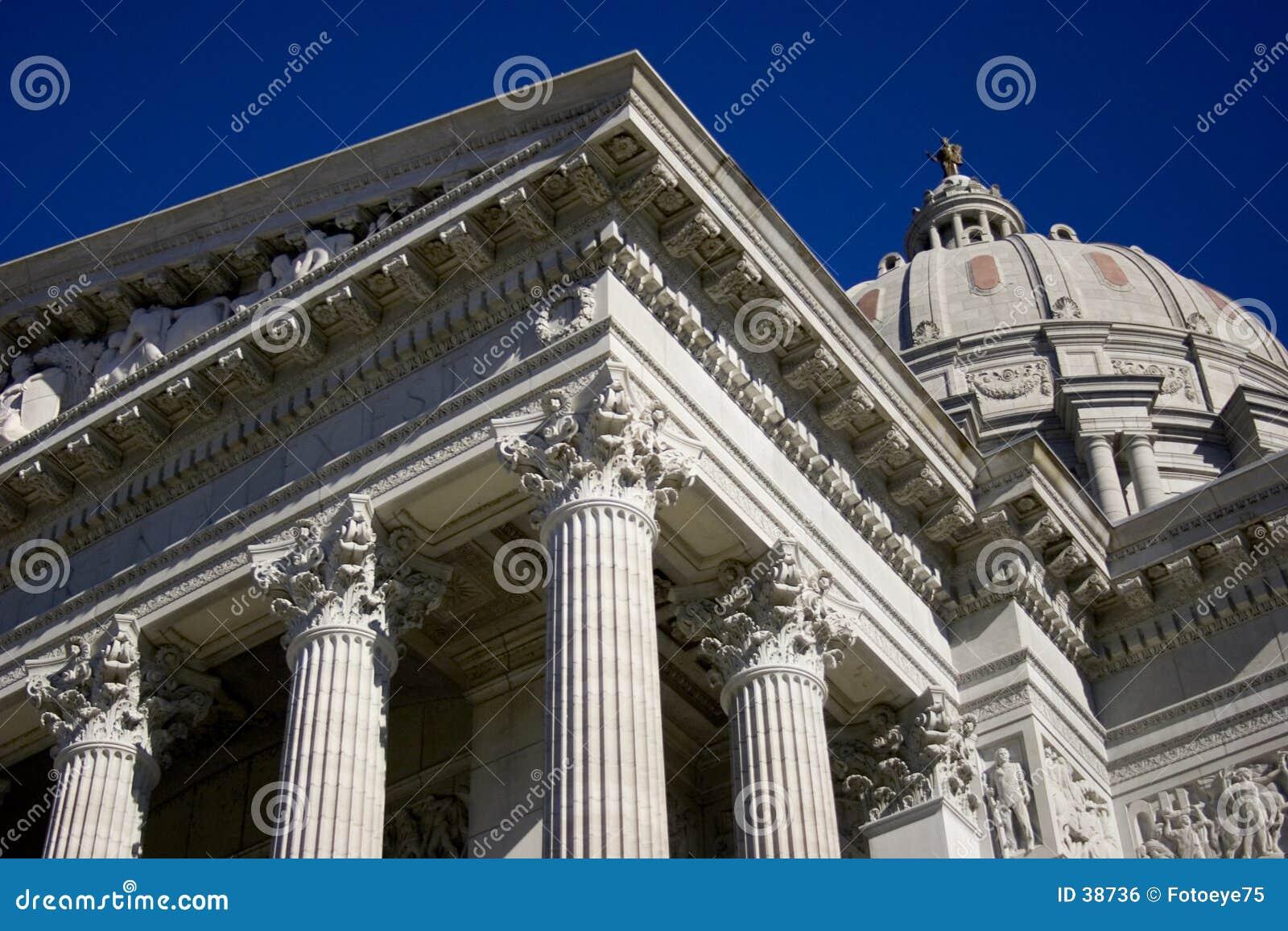 Download Capital de Missouri foto de archivo. Imagen de pilares, edificio - 38736