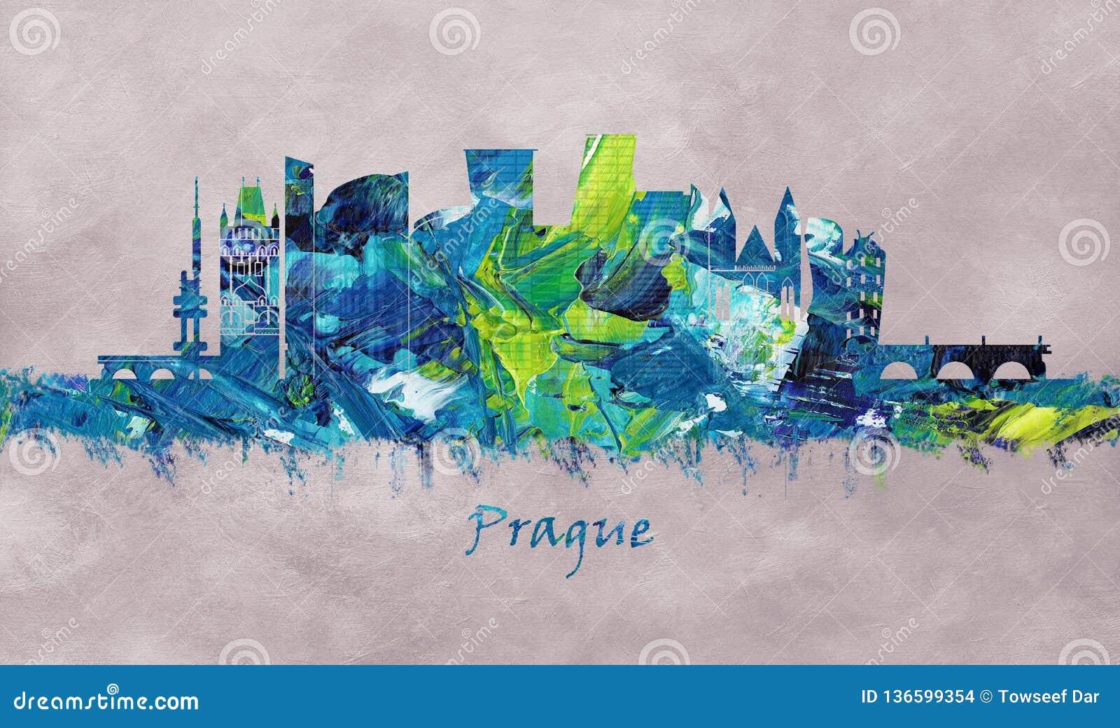Capital de Prague de la République Tchèque, horizon