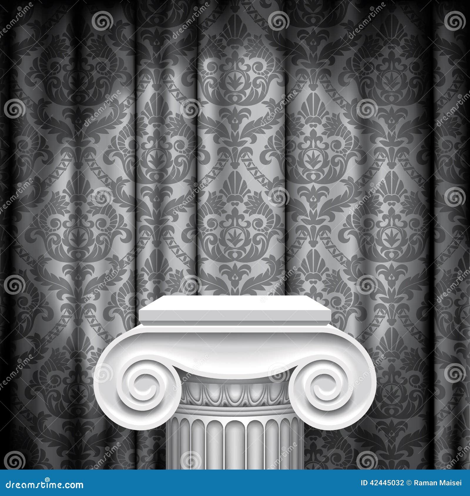 Capital en fondo gris