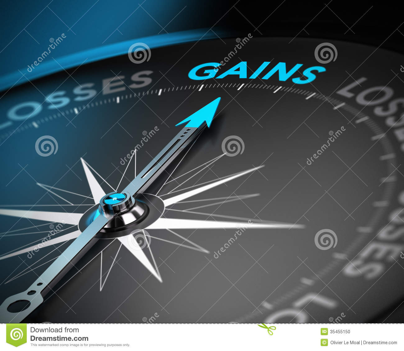 Finance Background: Capital Gains Concept Stock Photo