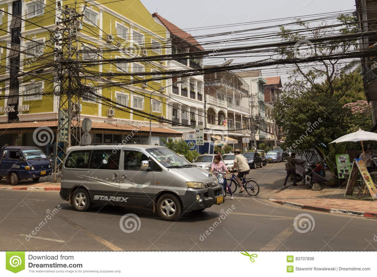 The Capital Of Laos, Vientiane Editorial Stock Image